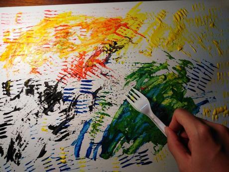 Cómo pintar con un tenedor