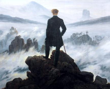 caminante sobre el mar de nubes, Caspar David Friedrich