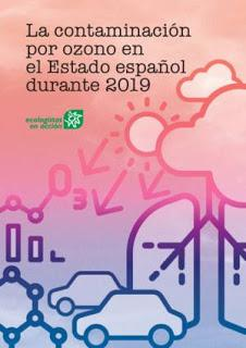 Informe de Ecologistas en Acción: la contaminación por ozono en el Estado español durante 2019