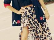 Falda print leopardo