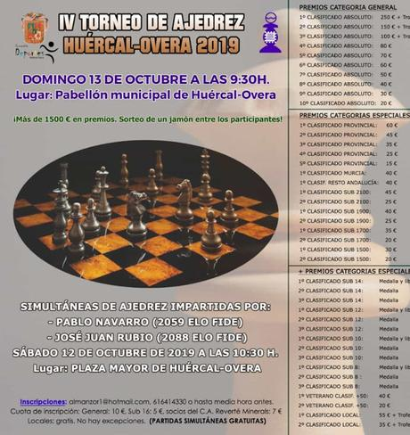 IV Torneo de Ajedrez Huércal-Overa 2019