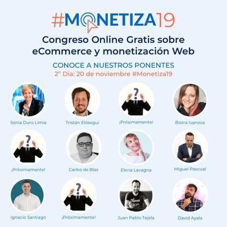 Próximo Congreso online gratuito de monetización web y eCommerce🎯