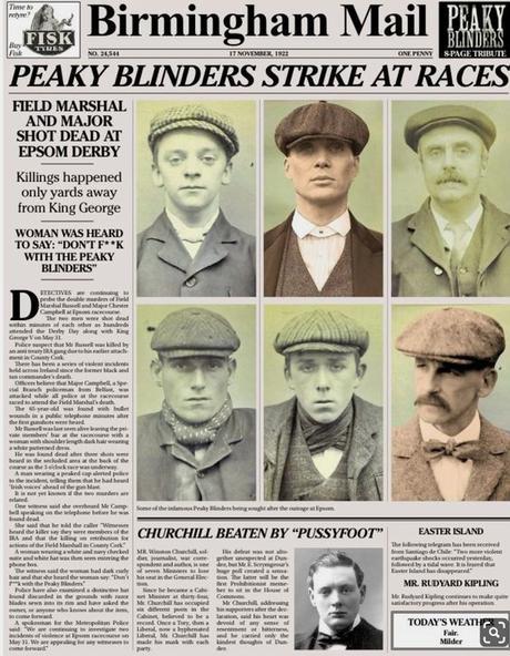 Los Malditos Peaky Blinders (los verdaderos allá por 1900)