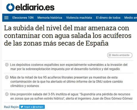 EL IMPACTO DEL CAMBIO CLIMÁTICO EN LOS ACUIFEROS PENINSULARES