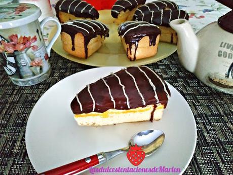 Cuñas de Natillas y Chocolate