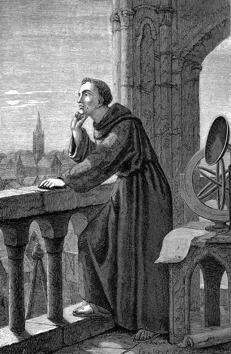 El franciscano Roger Bacon era un gran aficionado a la alquimia