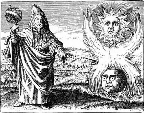 El Sol y la Luna junto a Hermes Trismegisto
