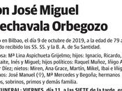 Despedida José Miguel Arechavala Orbegozo