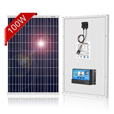 DOKIO Panel Solar 100W Polykristallin 12V Módulo solar con Controlador para casas jardines caravanas bombas