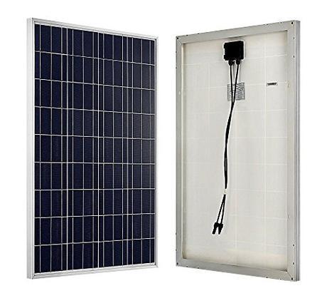 ECO-WORTHY 100W 12V policristal de panel solar célula solar ideal para cargar de 12 volt de baterías