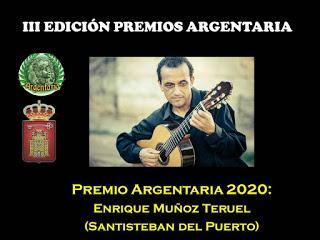 Premio Argentaria 2020 a D. Enrique Muñoz