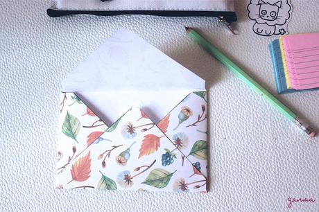 Freebie: Sobres de Otoño Para Snail Mail