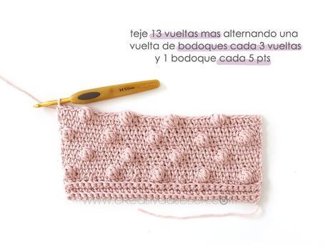 Cómo tejer  una Chaqueta Kimono de crochet de bebé - Patrón y Tutorial - Teje el delantero de bodoques
