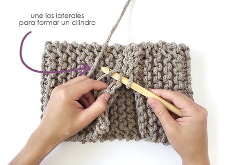 Macetero de Punto y Crochet