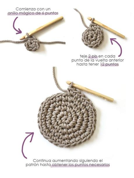 Cómo hacer un macetero de punto y crochet - Teje la base del macetero