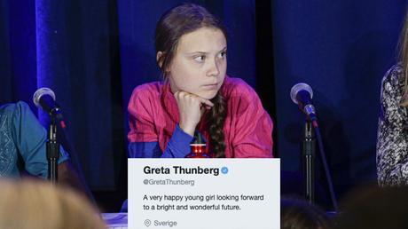 Resultado de imagen de twitter greta thunberg