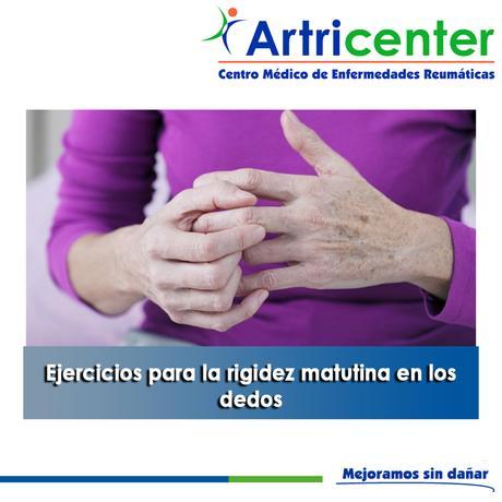 Artricenter: Ejercicios para la rigidez matutina en los dedos