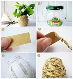 8 ideas para centros de mesas con reciclaje