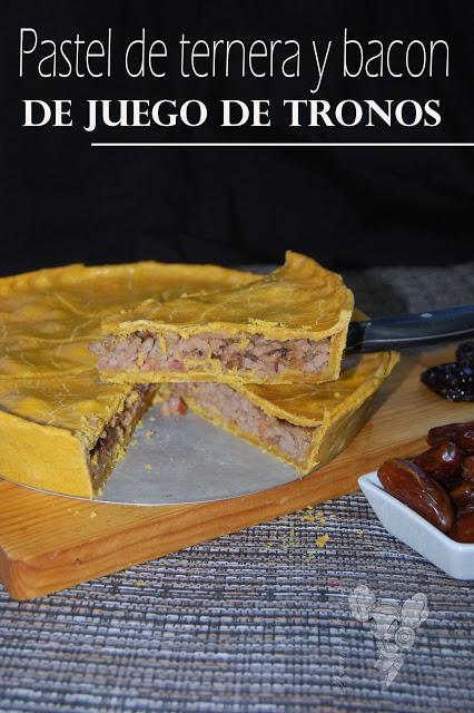 Pastel de ternera y bacon de Juego de Tronos, para el Asaltablog
