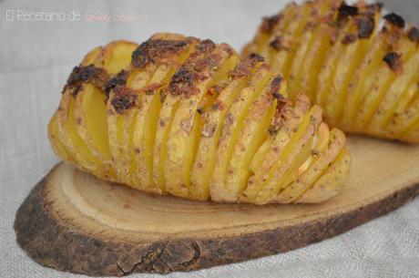 Patatas Hasselback - Reto #asaltablogs