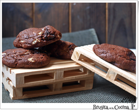 Cookies doble chocolate y oreos