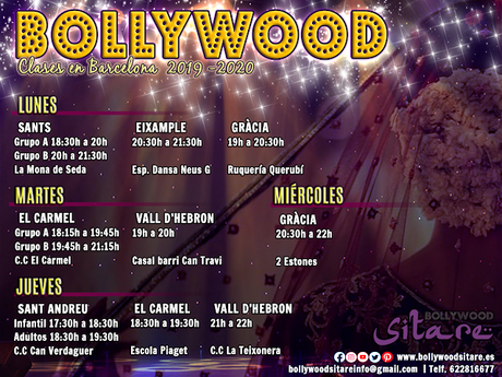 Clases de Bollywood en Barcelona 2019 - 2020