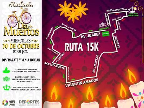 Realizarán rodada por el Día de Muertos en Soledad