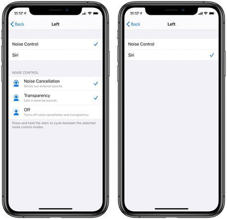 Cómo personalizar los controles AirPods Pro para cancelación de ruido y Siri