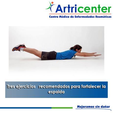 Artricenter: Tres ejercicios   recomendados para fortalecer la espalda