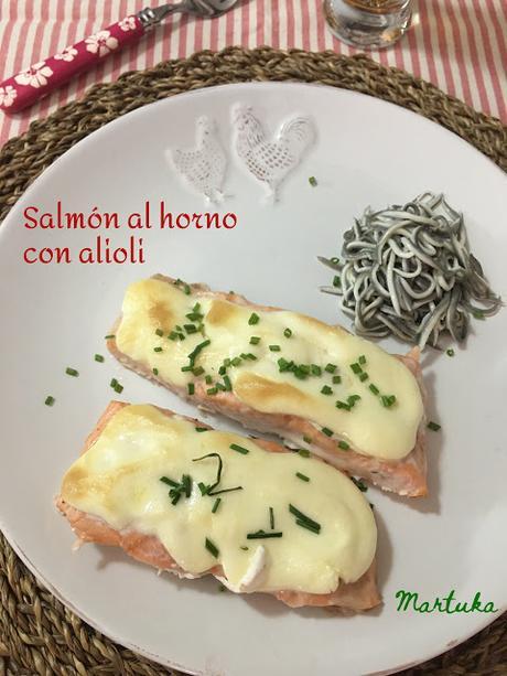 Salmón Al Horno Con Alioli