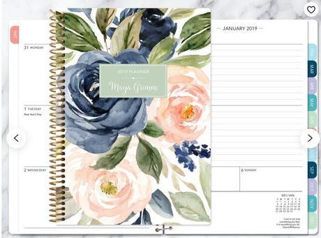 Calendario 2020 blanco y negro minimalista 75 páginas gratuito