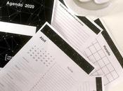 Calendario 2020 blanco negro minimalista páginas gratuito
