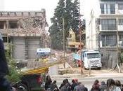 Arquitectura protesta demolición casas históricas