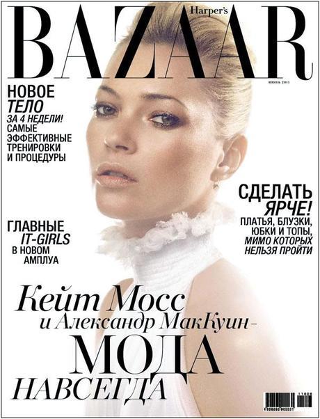 Kate Moss Covers Harper's Bazaar Russia June 2011