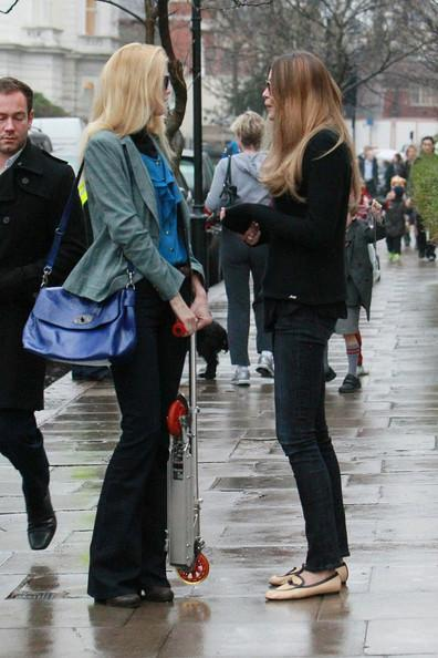 Claudia Schiffer - Claudia Schiffer and Elle Macpherson in West London