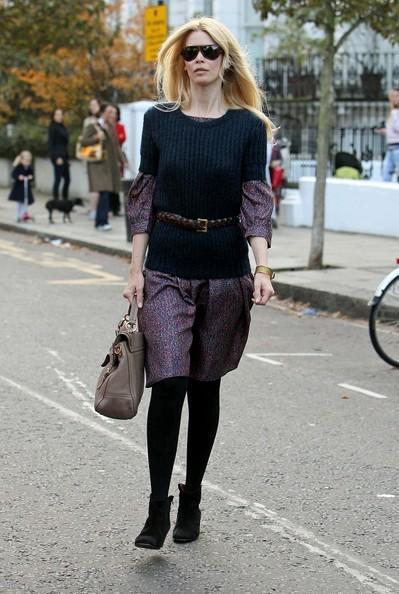 Claudia Schiffer - Claudia Schiffer Takes Her Kids to School