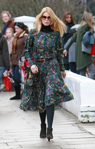 Claudia Schiffer - Claudia Schiffer Out and About
