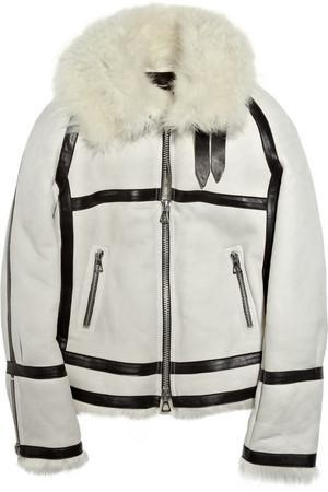 Isabel Marant Michal Shearling Suede Jacket Profile Photo