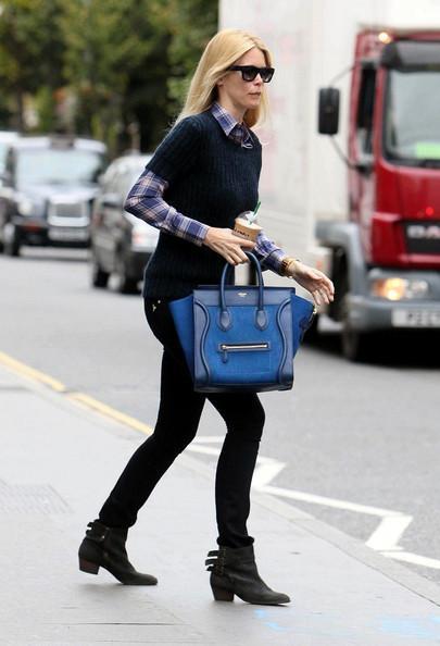 Claudia Schiffer - Claudia Schiffer Drops Off Her Kids