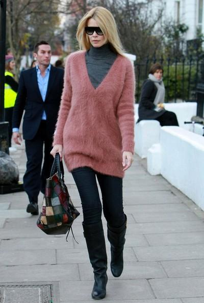Claudia Schiffer - Claudia Schiffer and Elle Macpherson Take Their Kids to School