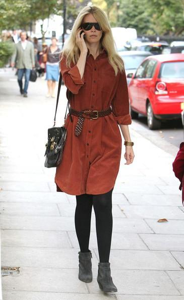Claudia Schiffer - Elle MacPherson and Claudia Schiffer Out and About