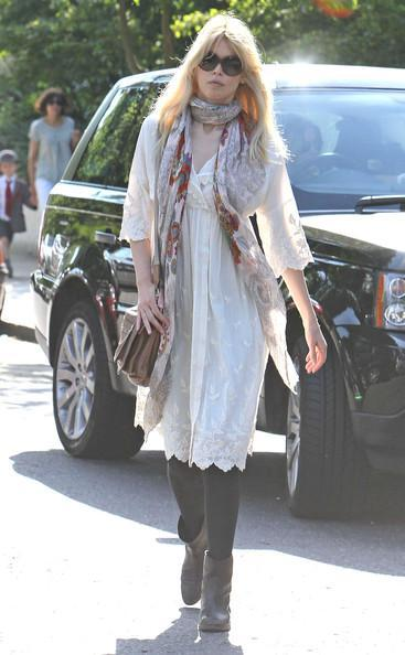 Claudia Schiffer - Claudia Schiffer Out with Her New Baby