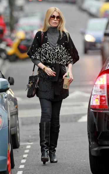 Claudia Schiffer - Claudia Schiffer on the School Run