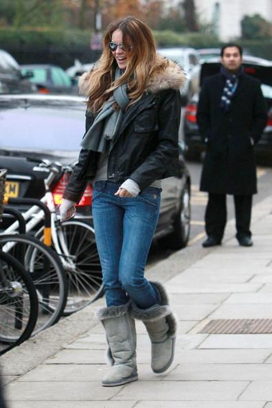 Elle MacPherson Super model Elle MacPherson is seen on the school run in West London.