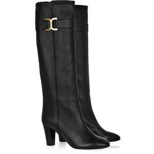 Chloé Wooden-Heeled Leather Boots Profile Photo