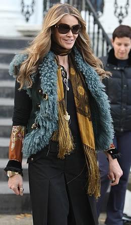 Elle Macpherson bohemian in Gucci