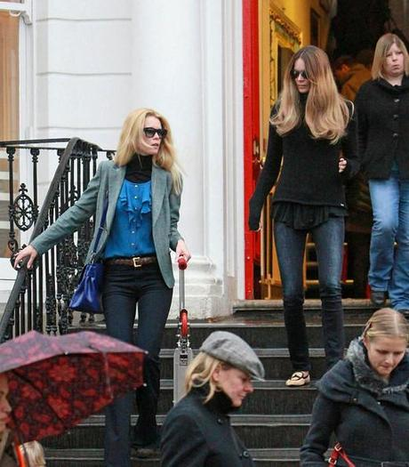 Claudia Schiffer - Claudia Schiffer and Elle Macpherson in West London 2