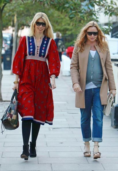 Claudia Schiffer - Claudia Schiffer and Stella McCartney Take a Walk