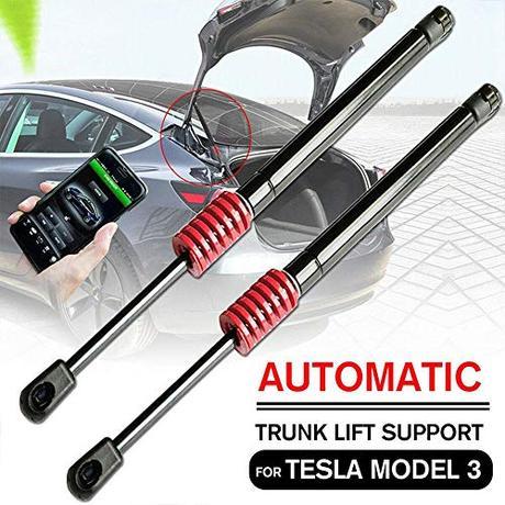 OOOUSE Soporte de Elevación de Maletero Automático, Kit de Puntal de Equipaje Trasero Neumático de, Varillas de Soporte Hidráulico para Tesla Modelo 3 (Juego de Dos)
