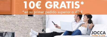 Cheque con 10€ de regalo para la tienda online JOCCA